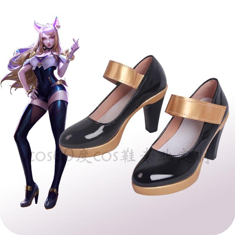 Game LOL KDA Costume Shoes Idol Singer New Skin Nine-Tailed Fox Ahri Shoe