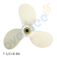 OVERSEE OUTBOARD For YAMAHA Outboard 4 5 HP Aluminium Propeller Pervane 6E0 45941 01 EL 3X7
