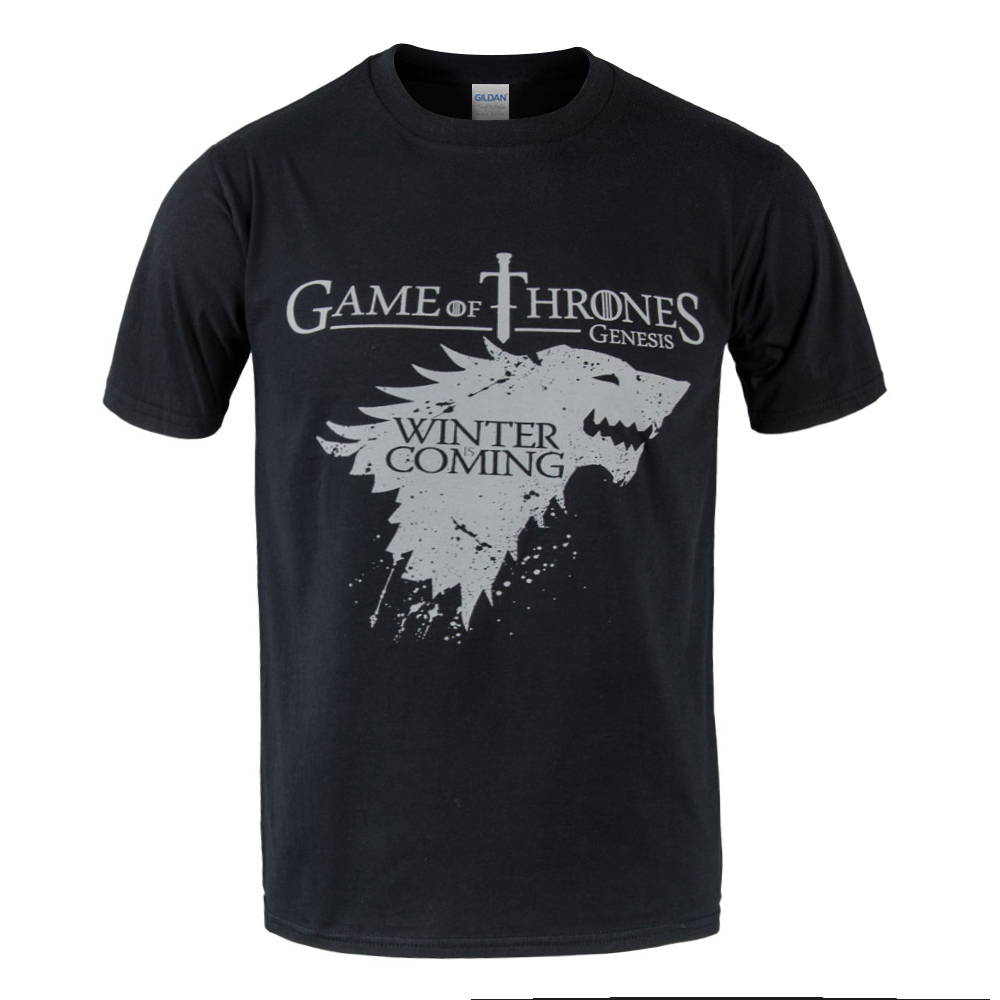 Top quality Short sleeve game of thrones T shirt men fashion winter is coming design cotton o neck men tshirt 2018