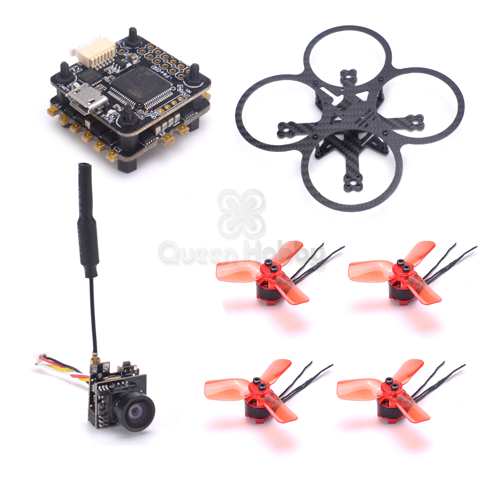 90mm Indoor FPV Frame Mini F4 Integrated OSD 4 in 1 <font><b>ESC</b></font> <font><b>1104</b></font> 7500KV <font><b>Motor</b></font> VTX 25MW 800TVL Camera image