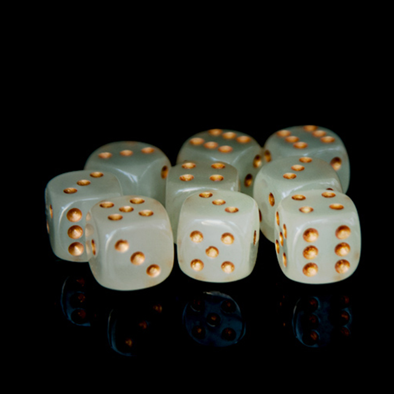 6Pcs/set 16MM Party Fun Bar Dices Acrylic Gaming Props 20mm Red Blue Yellow Point Dice Bar Hotel Dice Props Gaming Dices Set