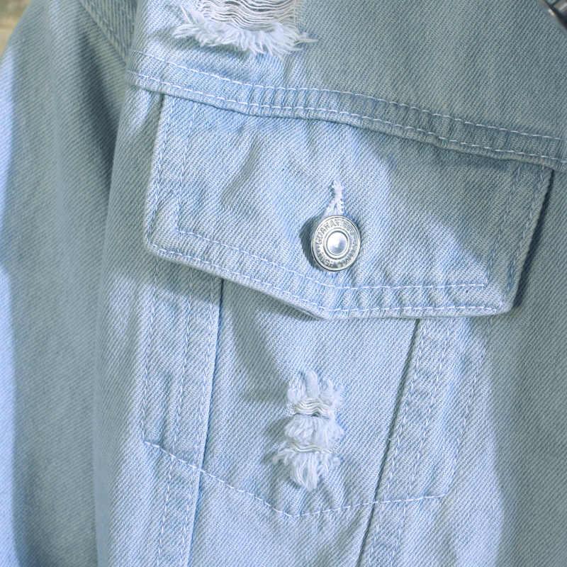 新 2019 男性のジーンズジャケットメンズボンバージャケット男性ヒップホップマンヴィンテージデニムジャケットコートストリートやつ S XL XXL