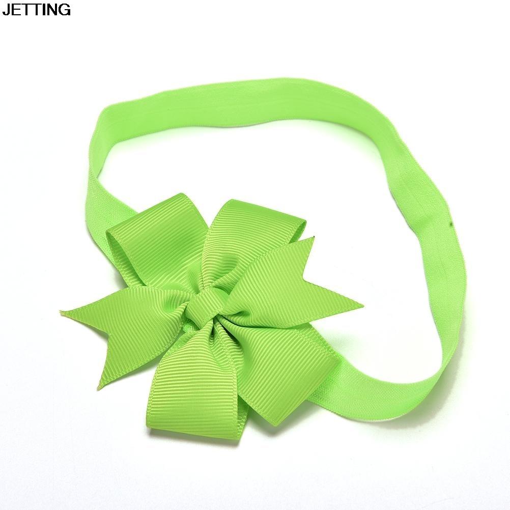 20pcs/lot DIY Grosgrain Ribbon Bow Elastic Girl Hair Bands Hair Bow Headband
