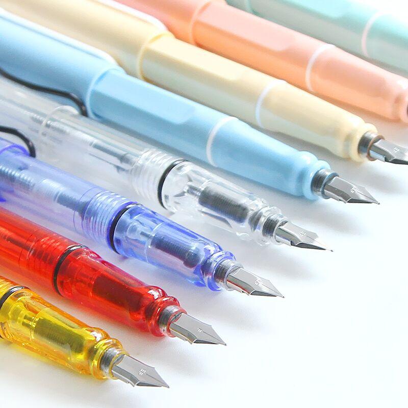 JIANWU 1pc Simple transparent pen Practice fountain pen ...