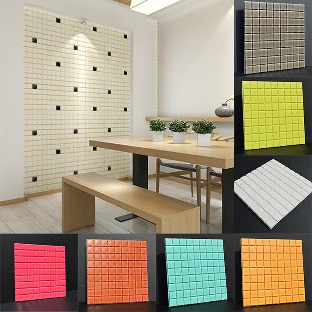 30*30 cm Ultra Dikke PVC Panelen 3D Zelfklevende Muurstickers  Geluidsisolatie Woonkamer Slaapkamer Eetkamer Kamers decoratie in 30*30 cm  Ultra Dikke ...