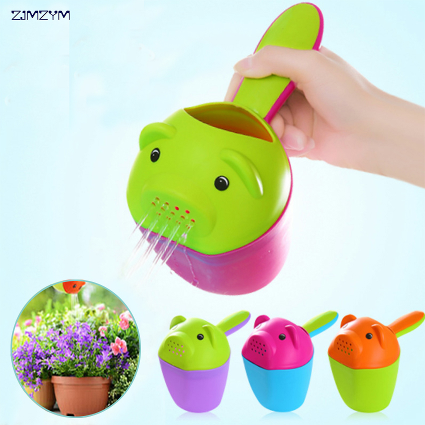 1PC creative cartoon multifunctional cup water shower spoon shampoo cup bathing tools Water Cans watering flowers