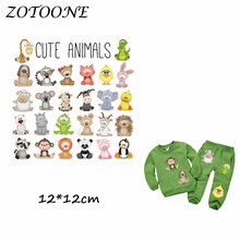 ZOTOONE Cute Animals Heat Transfer Patches Iron on for Clothes Beaded Applique DIY T Shirt Accessory Decoration