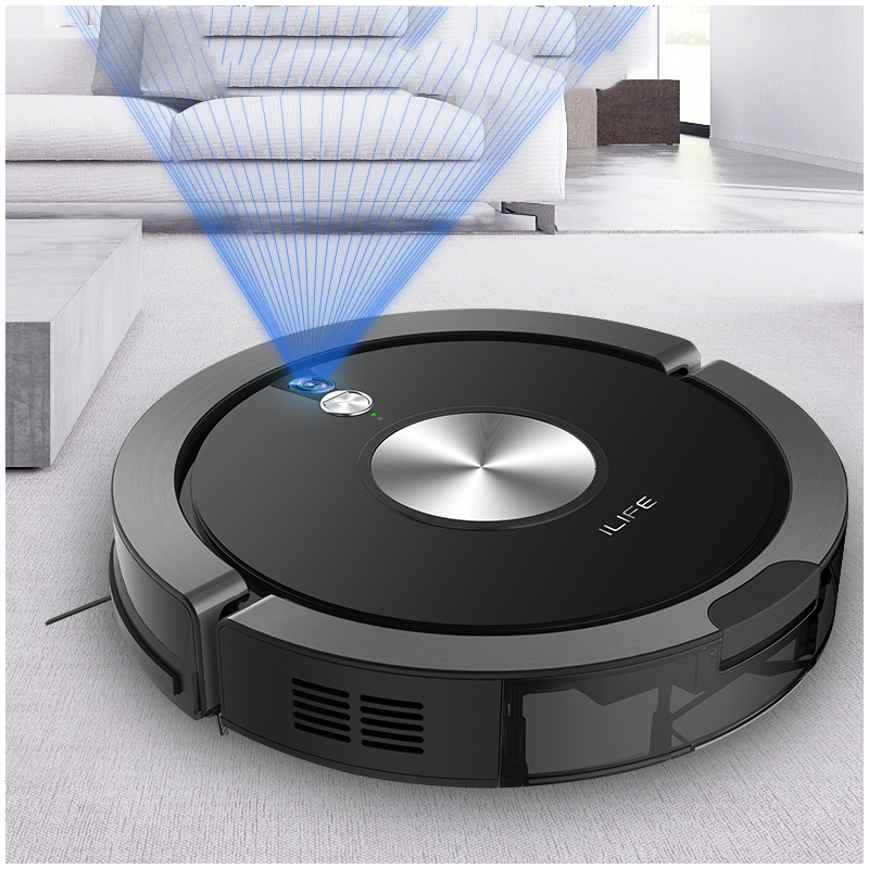 2018 NEW Arrival ILIFE X800 Robot Vacuum Cleaner For Home Dry Wet Water Tank Motor Intelligent