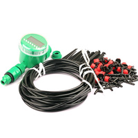 25M 4/7mm Hose Drip Irrigation Kits Easy Install Plants Automatic Watering Timer High Quality Garden Adjustable Nozzle Hose Kits