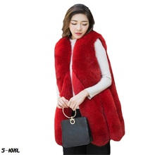 Faux fur vest new 2017 fashion fox fur coat grass vest female thick warm ladies fur jackets skirt plus size womans faux fur coat genuo new 2019 winter fashion women s faux fur vest faux fur coat thicker warm fox fur vest colete feminino plus size s 3xl