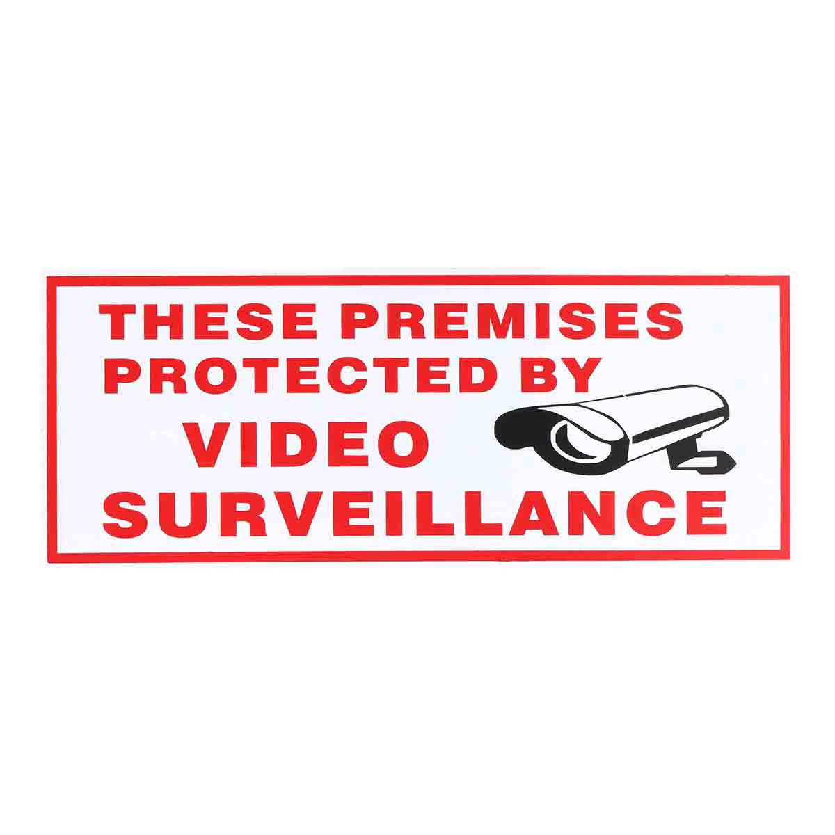 Safurance These Premises Protected By Video CCTV Surveillance Plastic Sticker Safety Sign Decal Security Safety