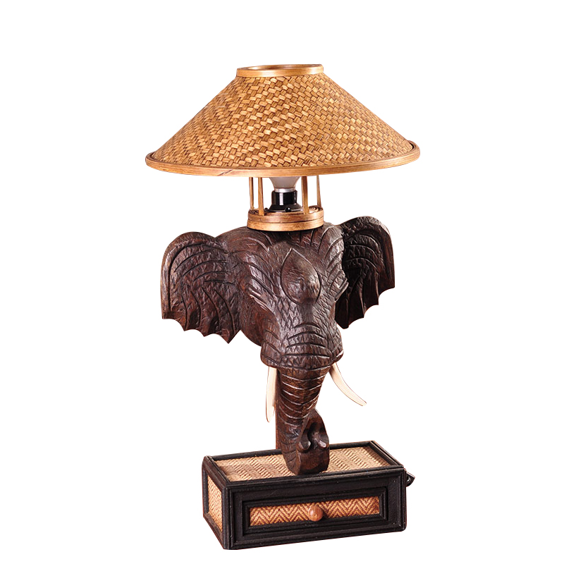 Southeast Asia Elephant Table Lamp Bedroom Bedside Lamp Thai Creative  Personality Retro Bar Table Lamps TA9186 In Table Lamps From Lights U0026  Lighting On ...