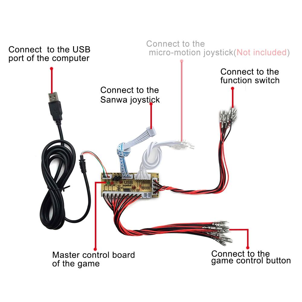 US $59.99 |Arcade DIY KIT For Jamma MAME 2 players : 2 zero delay USB on