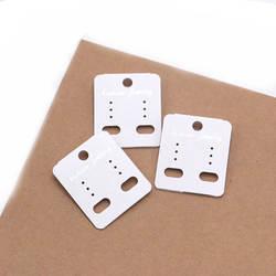 1000 шт. белый DIY ПВХ Бумага Jewelry упаковки повесить висячие серьги карты Высокое качество бумажные выставочные листы бирки
