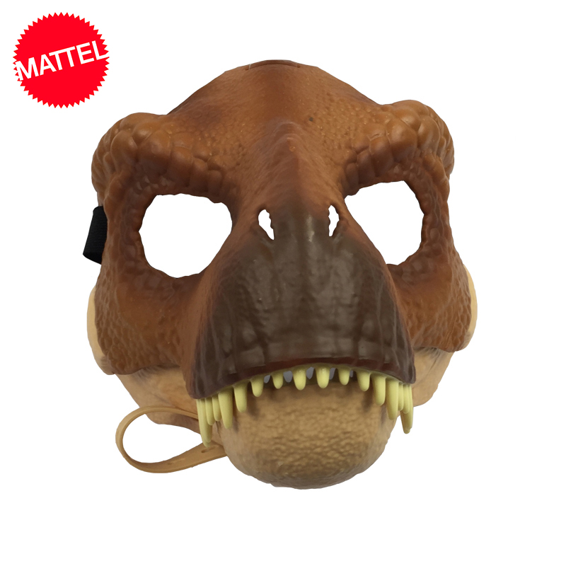 Original Mattel Jurassic World 2 Dinosaur Realistic Mask One Piece Toys Cosplay Props Halloween Costumes Toy for kids Adults handbag