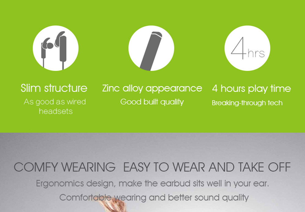 2017 Original SYLLABLE D300L Bluetooth 4.1 Earphone Wireless earpiece Earphone Earbud with Mic Stereo Headset for Mobile Phone