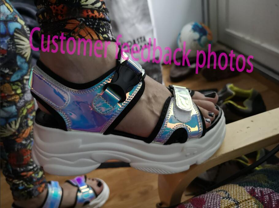 HTB1FjbvamSD3KVjSZFKq6z10VXag Women Sandals 2019 New Summer Sandals Ladies Casual Shoes Women Bling Wedges Buckle Strap Platform Shoes 5 CM Sandalias Mujer