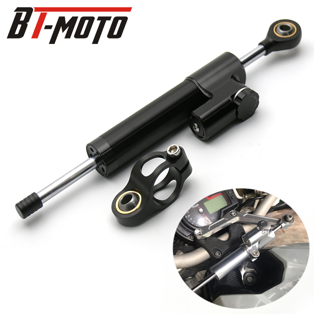 CNC Universal Aluminum Motorcycle Damper Steering Stabilize Reversed Safety Control For Kawasaki ZX636 ZX6R Z800 Z750 Z1000CNC Universal Aluminum Motorcycle Damper Steering Stabilize Reversed Safety Control For Kawasaki ZX636 ZX6R Z800 Z750 Z1000