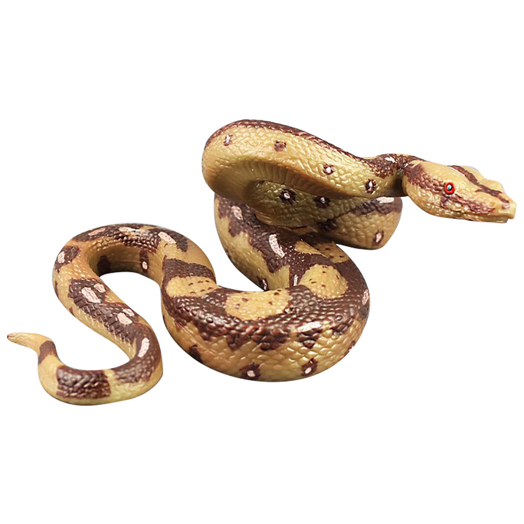 Party Prank Prop For Decor High Simulation Rubber Snake Toy Kids Gag Toys Prank Jokes Toys Animals Model Funny Wild Snake