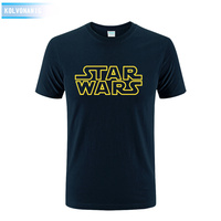 Loose All Match Stylish Popular Casual Star Wars Printing T Shirt O Neck Pure Cotton
