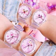Продукт Запуск милые животные свежие детские часы прозрачные мягкие силиконовые детские часы для девочек и мальчиков простые студенческие часы