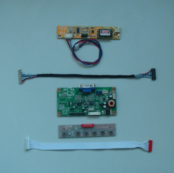 VGA lcd controller board for 12inch~15inch lcd panel 6bit/8bit LVDS interface купить