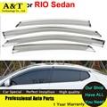 AKD Windows visor car styling Awning Shelters Vent Rain Sun Shield Window Visors For KIA K2 RIO Sedan 2012 2013 2014 Covers Car-