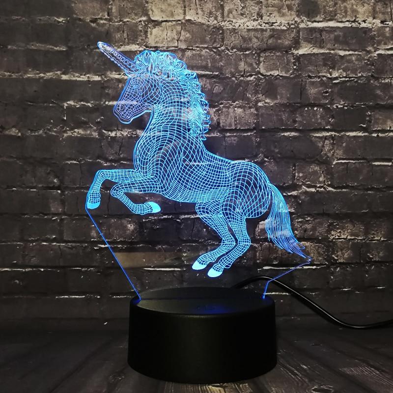 Epack Бесплатная доставка Прямая поставка 3D светодиодный светильник, ночник RGB лампа Рождественский декоративный подарок мультяшная игрушка ...