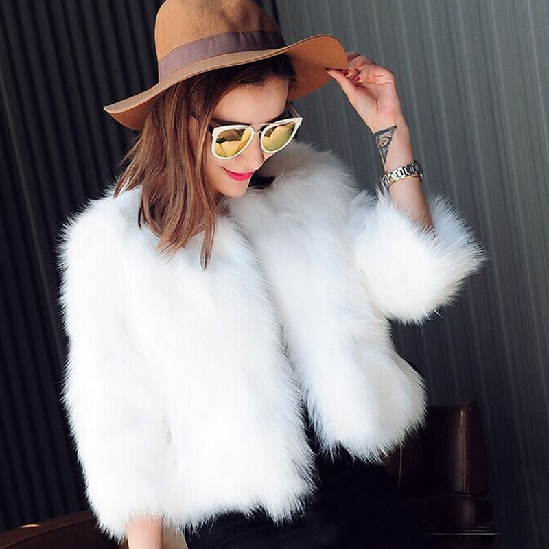 Popular White Fur Coats-Buy Cheap White Fur Coats lots from China ...