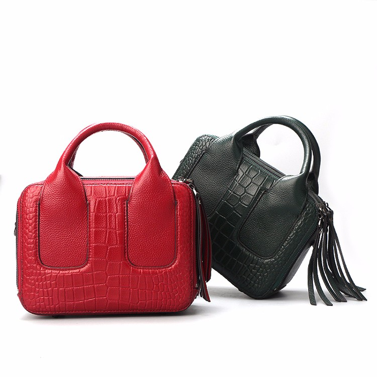 Qiwang Nice Box Bags Luxury Fashion Women Lay Bag 17 Italian Crocodile Handbags Purse Leather Lady Hand Collection Bag 14