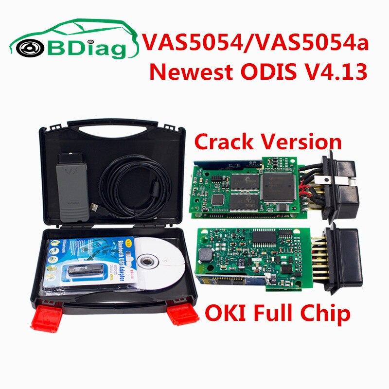 Цена за 2017 Одежда высшего качества VAS5054a с OKI полный чип VAS 5054a Одис 4.13 Bluetooth адаптер Поддержка UDS протокол VAS 5054 OBD2 Интерфейс