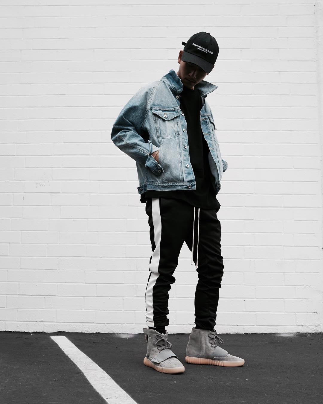 Hip Hop Pants Men Retro Side Striped Zipper Pants Track