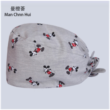 new Cotton Scrub Caps for Women and men Hospital Medical Hats Printing Tieback Elastic Section Surgical Caps pet caps