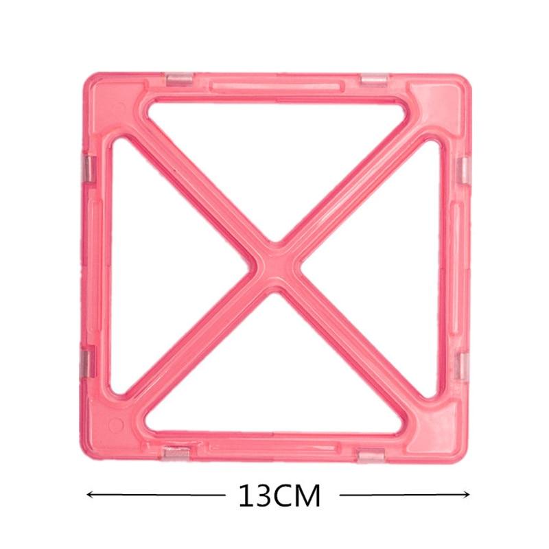 MylitDear 26Pcs Big Size Magnetic Murstein Square Triangle Parts - Bygg og teknikk leker - Bilde 4