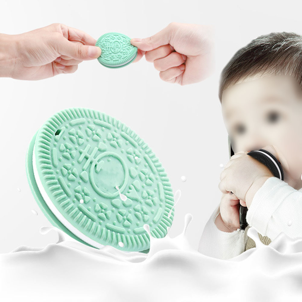 Baby Teether Biscuit Soft Silicone Dental Training Device Nursing Accessories Co