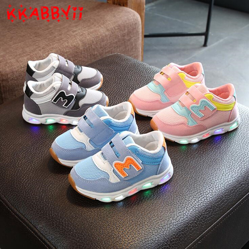 Children Shoes With Light 2018 New Brand Kids Luminous Sport Shoes Glowing Sneakers Baby Boys Girls LED Light Up Shoes joyyou brand illuminated kids shoes usb children boys girls glowing luminous sneakers with light up led school footwear teenage