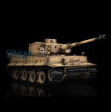 HengLong 1/16 actualizado Metal Ver amarillo Tigre alemán I RTR RC tanque modelo 3818-1