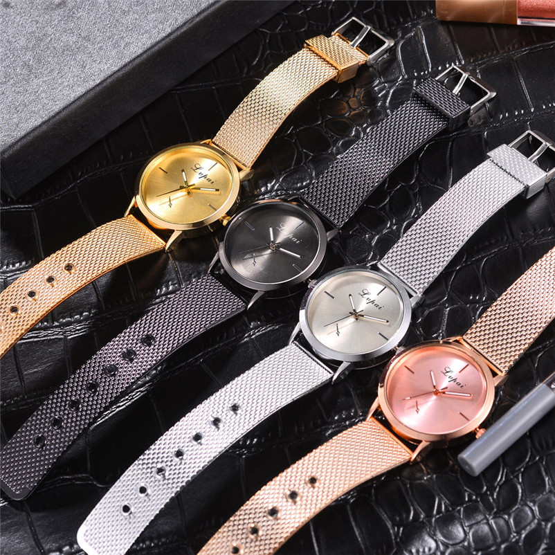 Newly Design Watch Women Girl Casual watch Alloy Quartz Silicone strap Band Watch Analog Wrist Watch Clock Montre Femme S18 (6)