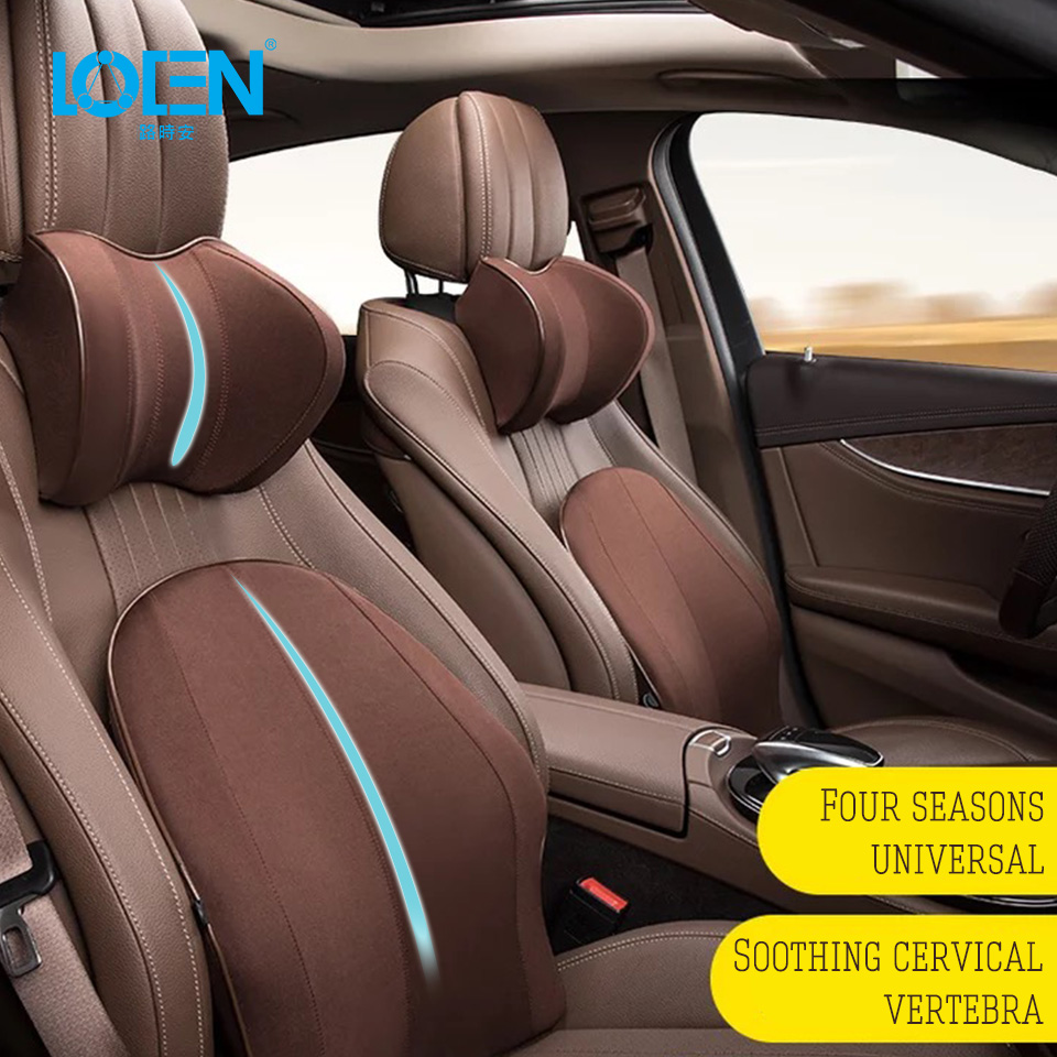 LOEN Auto Headrest Pillow Neck Waist Lumbar Support Back Cushion Kid Children Car Pillow Lumbar Support office Home Car Styling loen 1set of leather memory foam car seat support cover lumbar back cushion office chair lumbar support headrest neck pillow