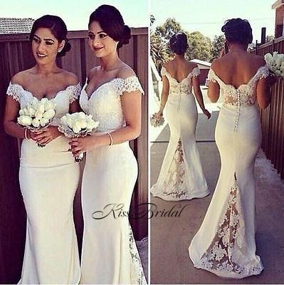 Brautjungfernkleid New Mermaid   Bridesmaid     Dresses   Long Sweetheart Sleeveless Floor Length Appliques Satin Party Prom Gowns
