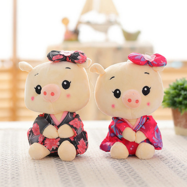 20cm Wholesale Sitting Pig Plush Toys Pig cloth Doll Animals Stuffed plush Children Doll Kids doll Wedding Gift