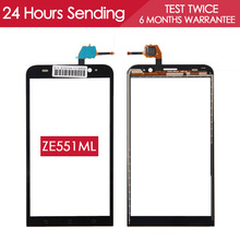 100% TESTED 5.5 inch Phone Touchscreen For ASUS Zenfone 2 Touch Screen ZE551ML with Digitizer Glass Panel Replacement Parts