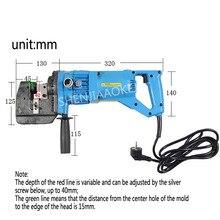 1 шт. угловой стальной канал h-образная стальная гидравлическая пробивная машина MHP-20 электрическая пробивная машина 900 Вт Фланцевая пробивная машина
