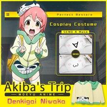 Moeyu Viaje Denkigai Niwaka Cosplay del Anime Akiba Primavera Otoño Camisa de Algodón Con Capucha Hombres Mujeres Traje de Carnaval