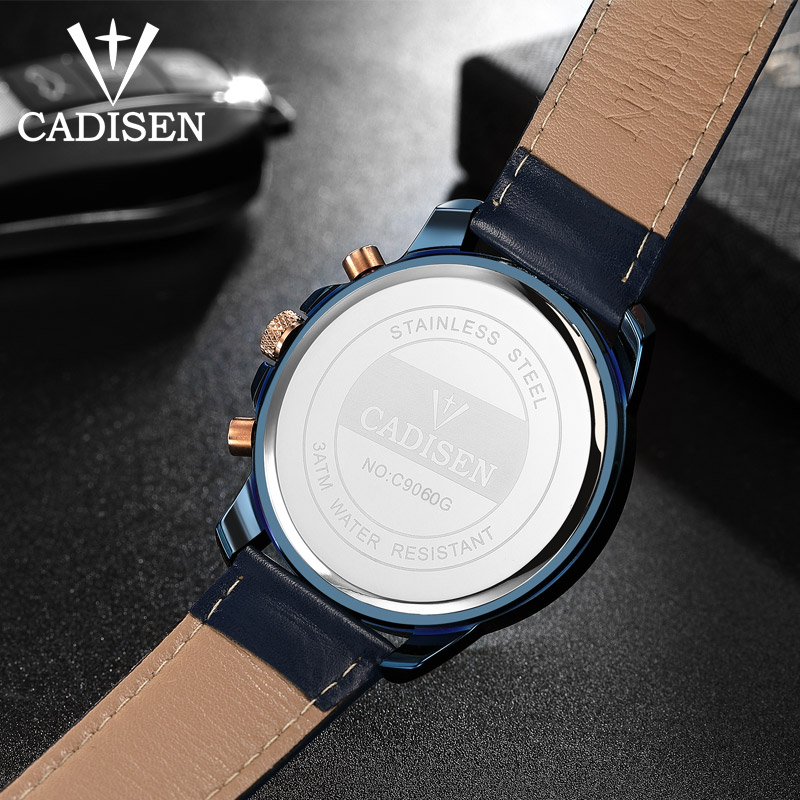 Herreure CADISEN Top Hot Fashion Sport Mærke Luksus Quartz Watch - Mænds ure - Foto 4