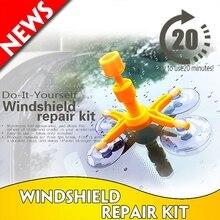 Kit de reparación de abolladuras de coche, herramienta de reparación de parabrisas de cristal automático, arreglo rápido, bricolaje