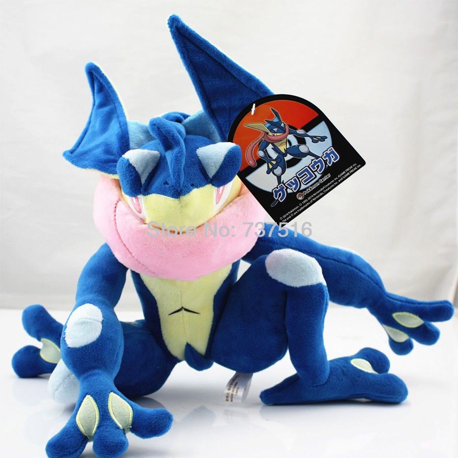 New Arrived 12 '' & 5.5 '' Blue Plush Greninja / Gekoga Stuffed Animal Doll Cute Toys Xmas Christmas Kids Gifts fancytrader new style giant plush stuffed kids toys lovely rubber duck 39 100cm yellow rubber duck free shipping ft90122
