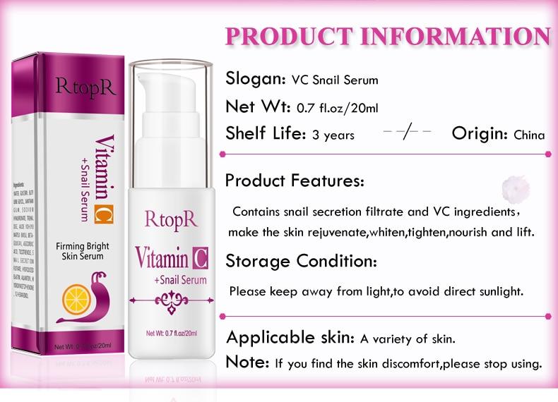 Hyaluronic Acid Serum + VC Snail Serum Collagen Serum Anti-Aging For men and women Moisturizing Skin Care Whitening Brighten 3