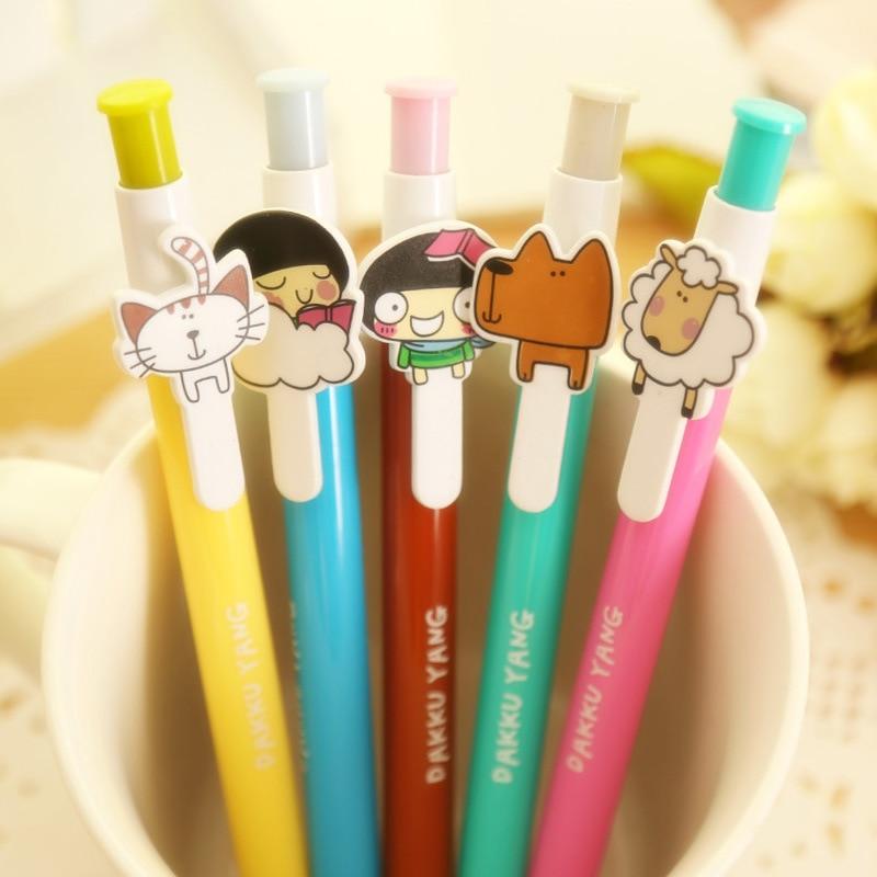 Cartoon plastic ballpoint pens of creative personality  ballpoint pens variety student stationery