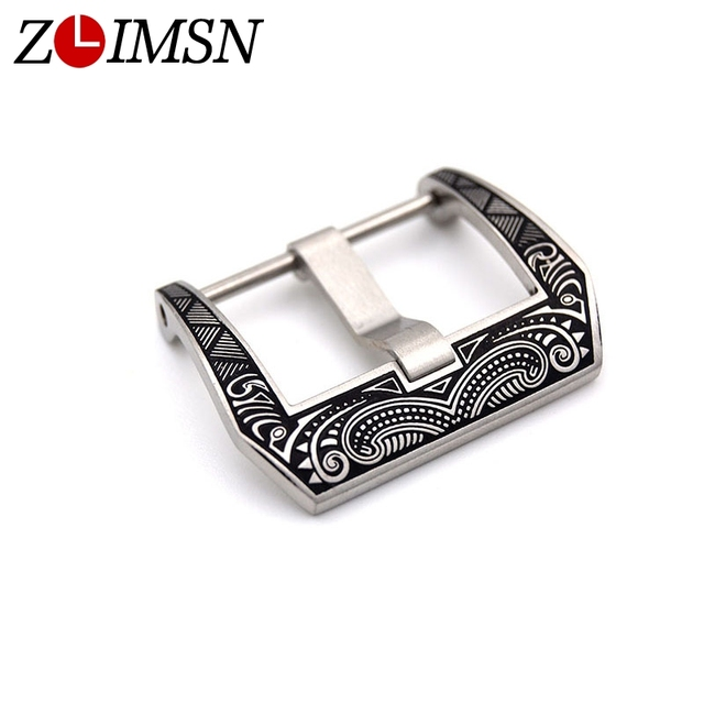 ZLIMSN High Quality Carved Watch Buckle Engraved 22mm 24mm Replacement for Panerai Watch Bands Watchband Accessories